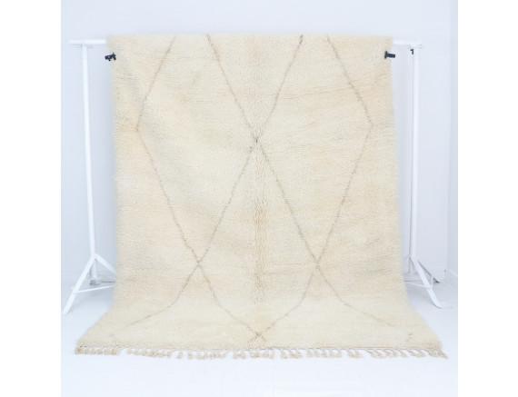Beni Ourain Teppich Muster Beige 205x290 cm