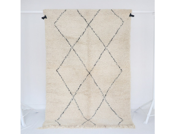 Beni Ourain Teppich klassische Rauten 147x230 cm